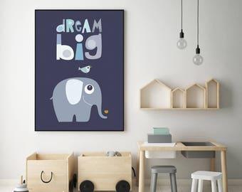 Nursery prints, elephant art, elephant prints, nursery art prints, nursery wall art, elephant artwork, elephant, elephant wall art, baby boy