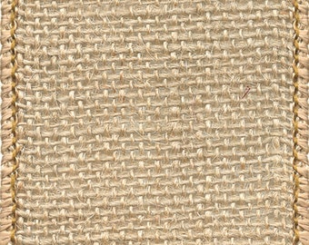 "2.5"" NATURAL BURLAP -     Great for craft projects, and wreaths!  Beautiful Decor Accent - Berwick Offray"