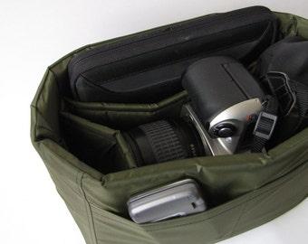 Kleine DSLR-Kamera-Tasche-Einsatz in Olivgrün - Ready to Ship