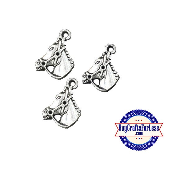 HORSE Charms, 6 pcs-Very Cute for Bracelet, Earrings or Pendant +FREE SHiPPiNG +Discounts*