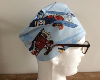 Vintage Aircraft Scrub Hat