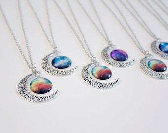 Galaxy Moon Nebula Necklaces!