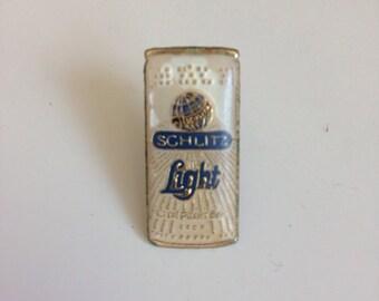 Schlitz Beer Enamel Pin. 1970s Can Of Schlitz Beer Retro Enamel Pin. Beer Lover Pin. Retro Biker Pin. 70s Lapel Pin Schlitz Logo Can