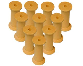Wooden Bobbins Spools 50mm  10 Pack Sewing Cotton Reels Craft Ribbon