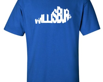 Willisburg Kentucky Word Art Hometown Pride Adult Unisex Tshirt