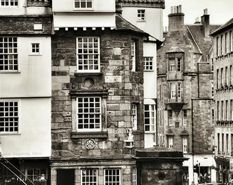 Edinburgh Print, City Wall Art, Scotland Art, Skyline, Urban Photography, Architectural Print, Home Decor, Silver Art Print, Brown, Old Town