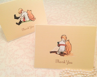 Winnie the Pooh Thank You Note Cards-Classic Pooh Thank You Notes - Set of 10