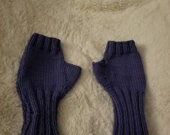 Merino wool fingerless gloves or arm warmers L