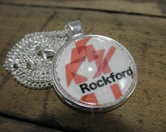 Rockford IL Necklace, Rockford IL Jewelry, Rockford IL, Rockford Illinois, Rockford, Rockford Symbol, Rockford Gift, Illinois Gift