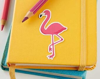 Pink Flamingo Sticker // Vinyl sticker, cute stationery, planner stickers