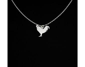 Chicken Necklace - Chicken Jewelry - Chicken Gift