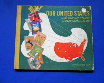 Our United States, a Vintage Children's Stamp Book