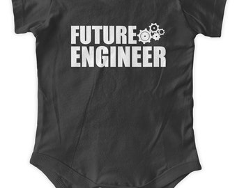 Future Engineer Baby One Piece Body Suit Engineering Gifts Baby Graphic Infant Clothing Baby Shower Gift Short Sleeve Bodysuit Romper