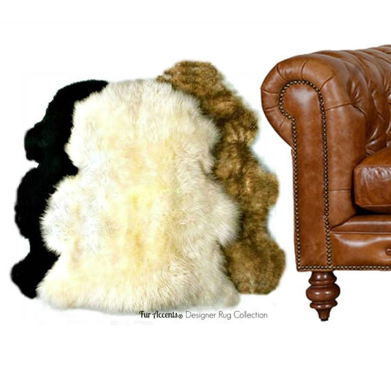 Plush Faux Fur Area Rug Luxury Fur Thick Shaggy Single Pelt