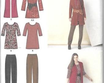 Womens Knit Pants, Tunic, Jacket Vest New Sewing Pattern Simplicity 1593 Size 20/28