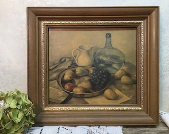 Vintage Fruit Still Life Picture/Dining/Kitchen/French Country