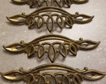 Vintage Solid Brass Drawer Handles