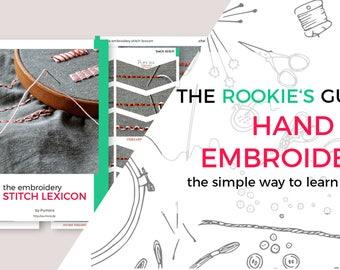 hand embroidery starter set for beginners 206 beginner embroidery stitches modern embroidery stitch book modern needlework