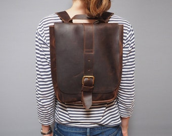 Leather backpack, rucksack, buckle, leather rucksack, day bag, backpack, mens leather backpack, leather leather back pack, manbag, ruck sack