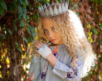 Full suze NATURE PRINCESS crown, full size crown, lace crown, queen crown, princess crown