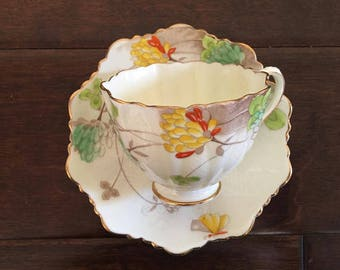 Paragon handpainted vintage tea cup