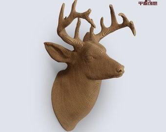 Deer Trophy    - DIY Cardboard Craft