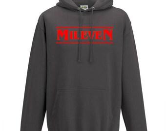 Stranger Things Mileven Hoodie Sweater Sweatshirt Pullover Stranger Things Gift Kids Hoodie Friends Don't Lie Bitchin Hawkins Eleven happy