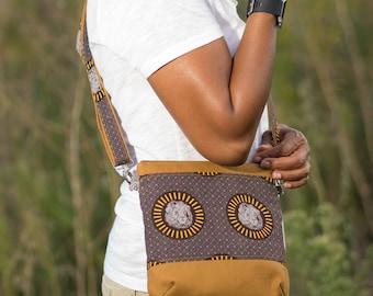 triple zip crossbody, crossbody bags for women, african bags and purses for women, african bag, crossbody purse, cross body purse,