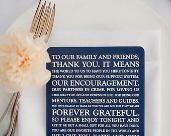 Wedding Reception Thank You Card   Wedding Thank You Card   Thank You Card   Thank You - Style 28 ORIGINAL  COLLECTION