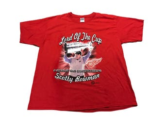 Vintage Scotty Bowman Red Wings T Shirt Size (XL)