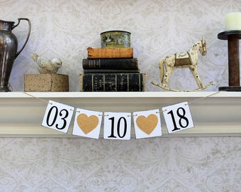 CUSTOM DATE - GOLD and black - save the date - birthdate