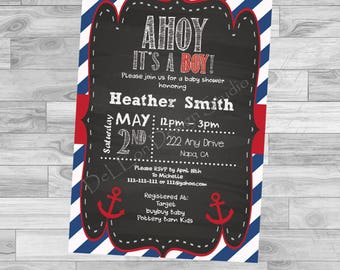 Ahoy It's A Boy! Baby Shower Invite
