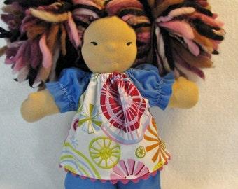 8 in mollig Puppe Umb Kleider, Waldorf 8 in Spielzeug Kleidung, Blau ♥ Bekleidung