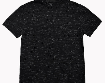 Men's United Face Classic Fit Short Sleeve Crew Neck Space Dye T-Shirt - Black, S~XXL