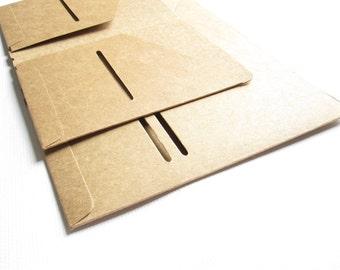 Midori Style Traveller's Notebook Kraft Folder。Travelers Notebook Insert。Kraft Card Holder。Card Organizer。Midori Style Folder