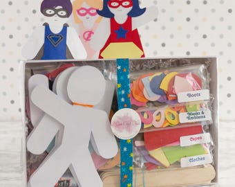Super-Helden Puppe Papier Handwerk Kit Handpuppen 30