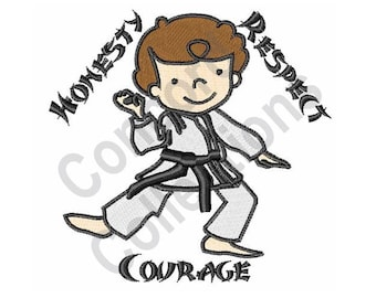 Honesty Respect Courage - Machine Embroidery Design, Karate, Martial Arts