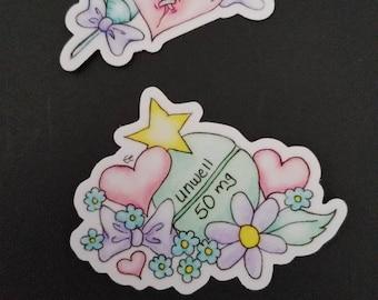 Menhera Sticker Set: Heartache and Happy Pill