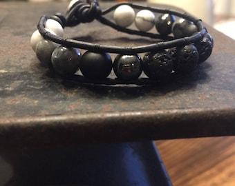 Essential Oil Diffuser Bracelet. Chan Luu style wrap bracelet with lava rocks