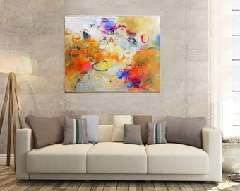 Modern Art Abstract Painting, Original Painting Canvas Art, Abstract Painting Canvas Art, Living Room Art, Large Abstract Painting, Fine Art