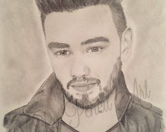 Liam Payne Original Graphite Drawing