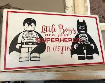 Little Boys Superheroes in Disguise