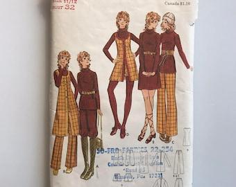Bust 32 vintage 70s pattern Butterick 6333