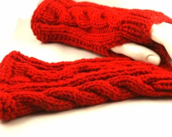 Fingerless Gloves Cabled  Hand Warmers Wrist Warmers Ask for Them in your Favorite Color
