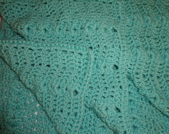 Crocheted Baby Quilt / Baby Blanket / Baby Afghan / Baby Cover / OOAK New Baby Gift / Baby Shower Gift