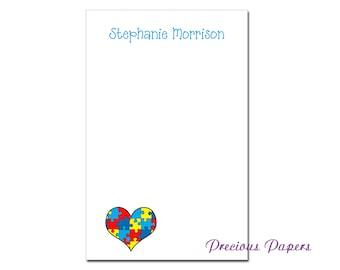 "Personalized Autism Awareness notepad 8.5x 5.5"" Autism awareness gift autism notes"