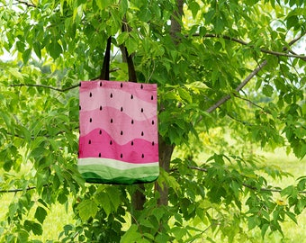 Watermelon Tote Bag - 16x16in Tote Bag - Front and Back full Decoration