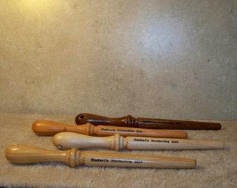 Handmade Wooden Nostepinne   ( center pull ball winder)
