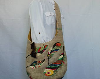 Shoulder Burlap Tote Market Bag