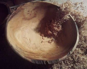 Ash Bowl//Wormy Ash Bowl//Natural Edge Bowl//Spalting Ash//Hand Turned//Hand Made//Wormy Ash Collection